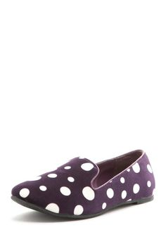 Purple spotted #loafers  http://fashioncherry.co/