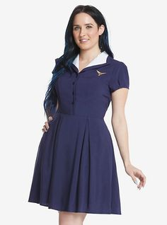 Marvel Agent Carter Pinup Dress, BLUE