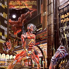 Iron Maiden - Somewhere in Time - 1986 Album Cover
