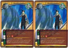 2x J-US077 Water Style: Giant Vortex Jutsu Gold Letters Rare #Naruto Cards 1st ed