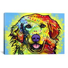 """""""Golden Retriever"""" by Dean Russo Graphic Art on Canvas"""