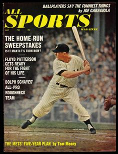 Offered is a 1962 All Sports Magazine featuring Mickey Mantle on the cover. Description from sports.mearsonlineauctions.com. I searched for this on bing.com/images