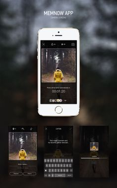 Camera screens. MemNow App. by Sergey Minkin