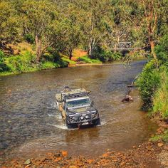Nothing like a good river crossing while checking out the Vic High Country.