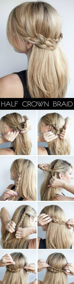 crown braid. it's simple!