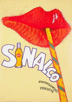 Original Vintage Poster Sinalco Fruit Drink 70s Pop Mod