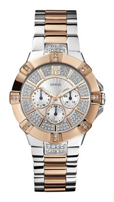 Stunning Moonbeam Rose Gold Watch with MOP Face by Guess. 5d8a40606c