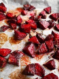 Rode biet uit de oven met honing en balsamico azijn