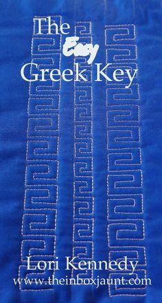Greek Key, FMQ, LKennedy, The Inbox Jaunt
