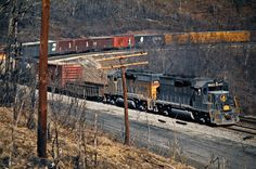 Baltimore and Ohio Railroad by John F. Bjorklund – Center for Railroad Photography & Art Railroad Photography, Art Photography, Baltimore And Ohio Railroad, Southern Railways, Norfolk Southern, Train Engines, Comic Art, Abandoned, Horses