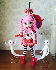 航海王 培羅娜 #onepiece #perona #anime #crochet #amigurumi #doll #編織