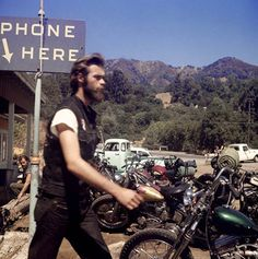 Hunter S. Thompson's epic images of Hell's Angels motorcycle gang members