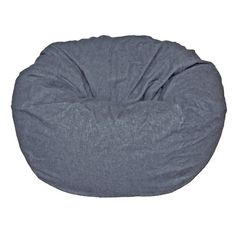 Ahh! Products bean bag chairs are sure to be a favourite from toddler years and last through college. This bean bag chair is perfect for kids, but will seat adults. Features a 100% cotton denim cover. As with all Ahh! Products bean bags, the cover is completely removable and washable. Under the cover is our exclusive liner that repels water in case you spill something. Your filling will stay safely inside the liner, since it's strong enough to hold up to your toughest kids. Liners come wi...