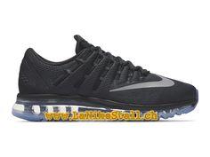 Nike Air Max 2016 Noir Gris Officiel Basket Pas Cher Chaussures Pour Homme  806771-001 00beb839087c