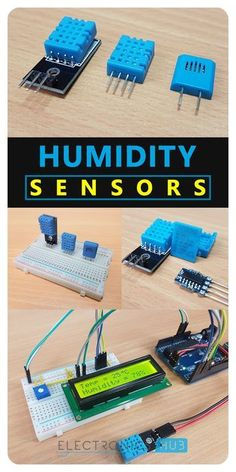 Humidity and Temperature Sensor on Arduino with LCD - PintoPin Iot Projects, Robotics Projects, Electronics Projects, Best Arduino Projects, Electronic Circuit Projects, Electronic Engineering, Humidity Sensor Arduino, Esp8266 Wifi, Arduino Programming
