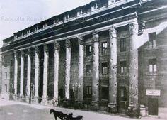 Foto storiche di Roma - Tempio di Adriano a Piazza di Pietra dopo il restauro