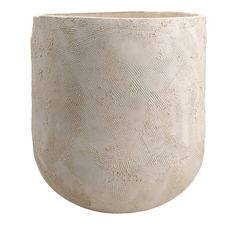 Large White Terracotta Vase