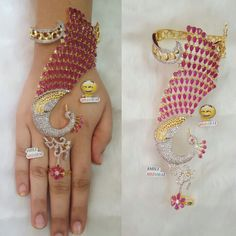 Gold Rings Jewelry, Coral Jewelry, Gold Jewellery Design, Fashion Jewelry Necklaces, Gold Bangles, Jewelery, Indian Wedding Jewelry, Bridal Jewelry, Indian Jewelry