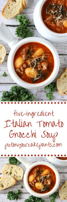 This Italian tomato gnocchi soup could not be easier - all you need is 5 ingredients and 20 minutes!