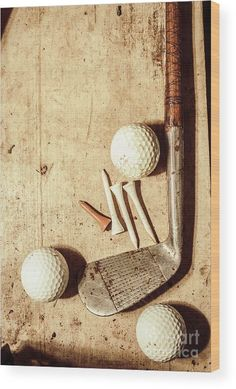 Golf Ball Crafts Old fashioned still life shot of a vintage golfing iron with ornate wooden handle coupled with a set of three golf balls and tees on shabby grunge background. Antique sports by Jorgo Photography - Wall Art Gallery Madara Uchiha, Golf Fotografie, Golf Ball Crafts, Golf Club Crafts, Fashion Still Life, Golf Pictures, Golf Photography, Vintage Photography, Digital Photography