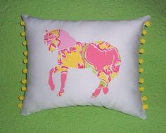 New custom Horse Pillow MW Lilly Pulitzer Day Lilly by jlmyakima, $28.00