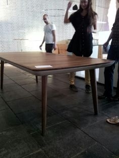 Design preis Germany, by Jacob strobe. Table with soft ends underneath