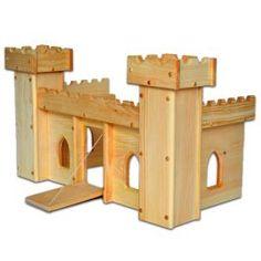 Cuento de hadas de madera del castillo de juguete