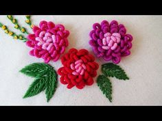 Hand Embroidery Patterns by HandiWorks: Flowers and florals are popular embroidery motifs and are available in a range of styles from classic to contemporary. This New Cast-on stitching designs feature flowers and leaf patterns. Download Pattern: https: