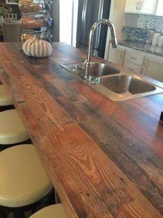 laminate wood grain countertops!