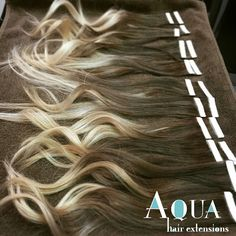Aqua Ombre Tape Hair Extensions System