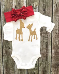Christmas bodysuit, Rudolph The Reindeer bodysuit Baby Girl Christmas bodysuit Christmas Shirt, Rudolph shirt Onesie For Baby Girls  ******ONESIE ONLY, LEGGINGS AND HEADBAND CAN BE PURCHASED IN THE DROP DROPDOWN SELECTION BAR  Our childrens shirts and onesies are a huge hit! Great baby shower gifts & are great for photo shoots! Youre little one will be the complete center of attention. Be sure to wash inside out. Hang dry or dry inside out on low heat to prevent cracking. That is to protect…