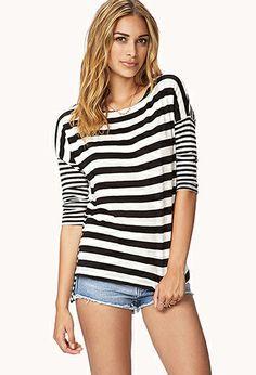 Multi-Stripe Relaxed Top | FOREVER21 - 2059991369