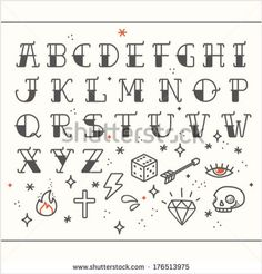 Rockabilly alphabet