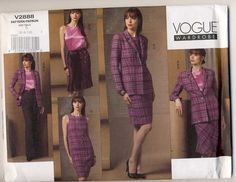 Vogue Wardrobe 2888 Misses Lined Jacket by Noahslady4Patterns