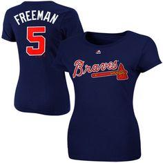 Jason Heyward Atlanta Braves Majestic Women's Name and Number T-Shirt - Navy Atlanta Braves Shirt, Braves Game, Brave Women, Women Names, Cut Shirts, Sport Wear, Kids Outfits, Men Sweater, T Shirts For Women