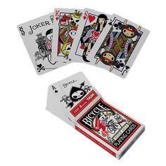1 decks of Bicycle TOKIDOKI DECK Playing Cards BY SIMONE LEGNO | eBay