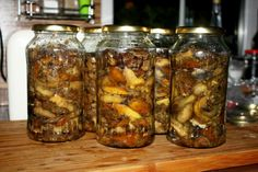 Polish Recipes, Polish Food, Preserves, Mason Jars, Stuffed Mushrooms, Homemade, Canning, Chicken, Home Canning