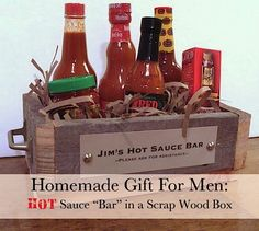 hot sauce bar gift for men! This would be good for brother