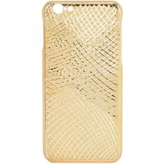 LA MELA LUXURY HANDMADE IN ITALY Lizard Gold Pleated Iphone 6/6s Case ($354) ❤ liked on Polyvore featuring accessories, tech accessories, gold and mela loves london