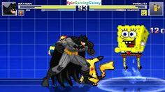 SpongeBob SquarePants & Pikachu The Pokemon VS Batman & Nova In A MUGEN Match / Battle / Fight This video showcases Gameplay of Pikachu The Electric Type Pokemon And SpongeBob SquarePants VS Batman The Superhero And Nova The Superhero In A MUGEN Match / Battle / Fight