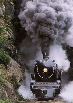 To travel in a coal engine train