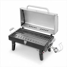 Portable Gas Grill With Stainless Steel Lid