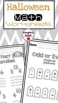 #tpt #tptpins #teacherspayteachers #math #elementary #halloween #worksheets