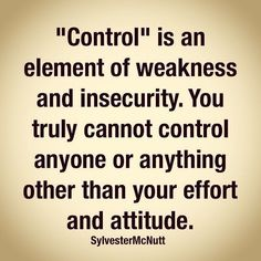 Not a fan of controlling people! Great Quotes, Quotes To Live By, Me Quotes, Motivational Quotes, Inspirational Quotes, Random Quotes, The Words, Controlling People, Controlling Relationships