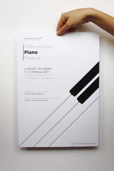 International Piano Festival by Laura Nassini, via Behance Brochure Inspiration, Graphic Design Inspiration, Book Cover Design, Book Design, Jazz Poster, Music Logo, Magazine Cover Design, Inspirational Artwork, Album Design