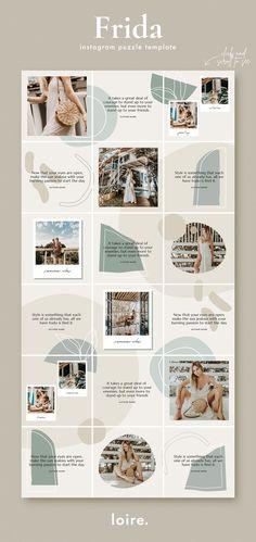 Instagram Feed Ideas Posts, Instagram Feed Layout, Instagram Grid, Instagram Post Template, Instagram Design, Free Instagram, Grid Design, No Photoshop, Social Media Design