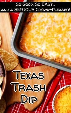 EASY party appetizer recipes that are crowd-pleasers. This Texas Trash Dip reci… EASY party appetizer recipes that are crowd-pleasers. This Texas Trash Dip recipe is DELICIOUS – everyone will LOVE it! Appetizers For A Crowd, Quick And Easy Appetizers, Finger Food Appetizers, Easy Appetizer Recipes, Holiday Appetizers, Food For A Crowd, Best Appetizers, Appetizer Ideas, Easy Party Recipes
