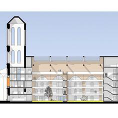 Dachbeleuchtung Umbau St-Anna-Kirche Essen in Wohnhaus