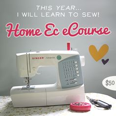 Home Ec is an online sewing course taught by Leigh-Ann Keffer, Rachel Denbow and Courtney Tucker. Home Ec intends to help increase your confidence behind the machine with usable techniques, projects you'll love and progressive development :) $50