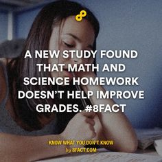 A new study found that math and science homework doesn